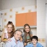 """Trini (Mar�a Castro) y su familia en """"Vive cantando"""""""