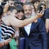"""Javier Guti�rrez en la presentaci�n de """"�guila Roja"""" en Vitoria"""