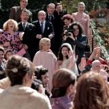 Mercedes y su hija Inés el día de su doble boda en San Genaro