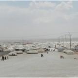 Vista del campo de refugiados de Zaatari en Jordania