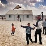 Niños en el campo de refugiados de Zaatari