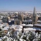 Preciosa panor�mica de Burgos despu�s de una nevada