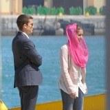 �lex Gonz�lez e Hiba Abouk en el rodaje de la serie El Pr�ncipe de Telecinco