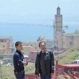 �lex Gonz�lez y Jos� Coronado en una pausa del rodaje de El Pr�ncipe